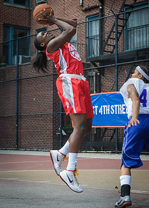 Michelle Campbell West 4th Street Women's Pro Classic NYC: Sports Challenge Semis: Big East Ballers (Red) 41 v White All Stars 34, William F. Passannante Ballfield, New York, NY, July 21, 2012