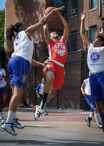 Anika Rivera, Jennifer Blanding, Nadirah McKenith West 4th Street Women's Pro Classic NYC: Sports Challenge Semis: Big East Ballers (Red) 41 v White All Stars 34, William F. Passannante Ballfield, New York, NY, July 21, 2012