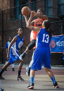 Lawanda Greene, Marika Sprow West 4th Street Women's Pro Classic NYC: Deuce Trey (Orange) 74 v Lady Soldiers (Blue) 71, William F. Passannante Ballfield, New York, NY, July 21, 2012