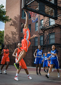 Renneika Razor West 4th Street Women's Pro Classic NYC: Deuce Trey (Orange) 74 v Lady Soldiers (Blue) 71, William F. Passannante Ballfield, New York, NY, July 21, 2012