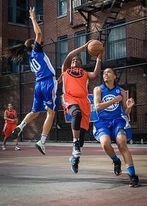 Lawanda Greene, Sade Jackson, Marika Sprow West 4th Street Women's Pro Classic NYC: Deuce Trey (Orange) 74 v Lady Soldiers (Blue) 71, William F. Passannante Ballfield, New York, NY, July 21, 2012
