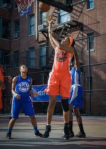Ayesha Barkley West 4th Street Women's Pro Classic NYC: Deuce Trey (Orange) 74 v Lady Soldiers (Blue) 71, William F. Passannante Ballfield, New York, NY, July 21, 2012