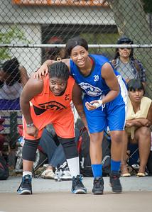 Lawanda Greene, Nadirah McKenith West 4th Street Women's Pro Classic NYC: Deuce Trey (Orange) 74 v Lady Soldiers (Blue) 71, William F. Passannante Ballfield, New York, NY, July 21, 2012