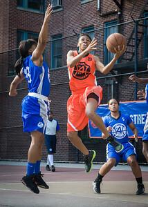 Renneika Razor, Nadirah McKenith West 4th Street Women's Pro Classic NYC: Deuce Trey (Orange) 74 v Lady Soldiers (Blue) 71, William F. Passannante Ballfield, New York, NY, July 21, 2012