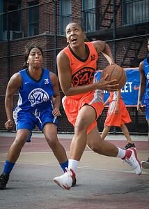 Shantale Bramble West 4th Street Women's Pro Classic NYC: Deuce Trey (Orange) 74 v Lady Soldiers (Blue) 71, William F. Passannante Ballfield, New York, NY, July 21, 2012