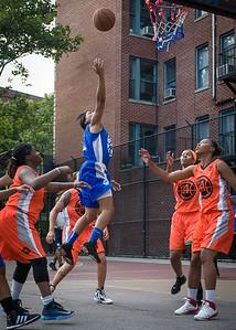 Nadirah McKenith West 4th Street Women's Pro Classic NYC: Deuce Trey (Orange) 74 v Lady Soldiers (Blue) 71, William F. Passannante Ballfield, New York, NY, July 21, 2012
