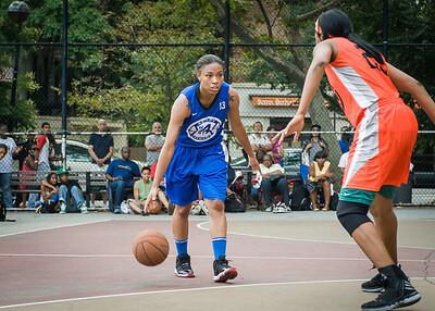 Marika Sprow, Ayesha Barkley West 4th Street Women's Pro Classic NYC: Deuce Trey (Orange) 74 v Lady Soldiers (Blue) 71, William F. Passannante Ballfield, New York, NY, July 21, 2012