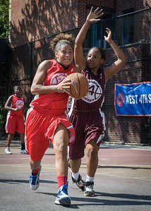 August Keating, Tanisha Montague West 4th Street Women's Pro Classic NYC: Saints (Burgundy) 47 v Ball 4 Life (Red) 20, William F. Passannante Ballfield, New York, NY, July 22, 2012, 2012