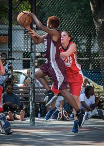 "Amanda ""Ice"" Burnett, Lindsay Cobb West 4th Street Women's Pro Classic NYC: Saints (Burgundy) 47 v Ball 4 Life (Red) 20, William F. Passannante Ballfield, New York, NY, July 22, 2012, 2012"