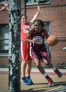 Alexandra Leftridge, Lindsay Cobb West 4th Street Women's Pro Classic NYC: Saints (Burgundy) 47 v Ball 4 Life (Red) 20, William F. Passannante Ballfield, New York, NY, July 22, 2012, 2012