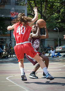 "Amanda ""Ice"" Burnett, Reisa Asimovic West 4th Street Women's Pro Classic NYC: Saints (Burgundy) 47 v Ball 4 Life (Red) 20, William F. Passannante Ballfield, New York, NY, July 22, 2012, 2012"