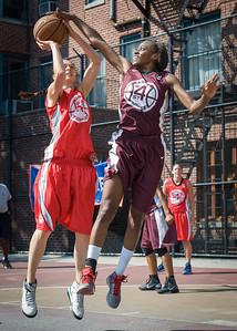 Laurence Mathieu-Leger, Alexandra Leftridge West 4th Street Women's Pro Classic NYC: Saints (Burgundy) 47 v Ball 4 Life (Red) 20, William F. Passannante Ballfield, New York, NY, July 22, 2012, 2012