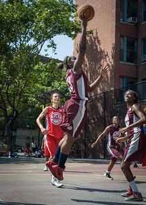 Cherkira Lashley West 4th Street Women's Pro Classic NYC: Saints (Burgundy) 47 v Ball 4 Life (Red) 20, William F. Passannante Ballfield, New York, NY, July 22, 2012, 2012