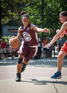 Imani Jones West 4th Street Women's Pro Classic NYC: Saints (Burgundy) 47 v Ball 4 Life (Red) 20, William F. Passannante Ballfield, New York, NY, July 22, 2012, 2012