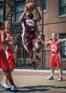 Alexandra Leftridge West 4th Street Women's Pro Classic NYC: Saints (Burgundy) 47 v Ball 4 Life (Red) 20, William F. Passannante Ballfield, New York, NY, July 22, 2012, 2012