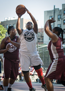 Akiah Luceus, Kimba Pierre West 4th Street Women's Pro Classic NYC: Brooklyn Express (Burgundy) 75 v Crossover (White) 52, William F. Passannante Ballfield, New York, NY, July 22, 2012, 2012