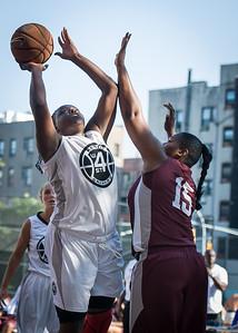 Akiah Luceus, Tatiania Ellis West 4th Street Women's Pro Classic NYC: Brooklyn Express (Burgundy) 75 v Crossover (White) 52, William F. Passannante Ballfield, New York, NY, July 22, 2012, 2012