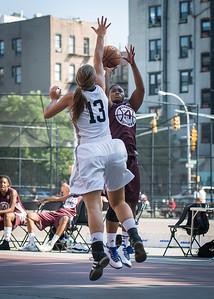 Tatiana Ellis, Kaitlin Cole West 4th Street Women's Pro Classic NYC: Brooklyn Express (Burgundy) 75 v Crossover (White) 52, William F. Passannante Ballfield, New York, NY, July 22, 2012, 2012