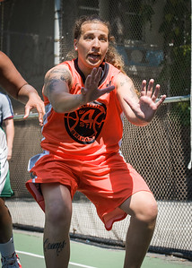 """Nicky Young West 4th Street Women's Pro Classic NYC: Exodus NYC Apache (Green) 61 v Deuce Trey (Orange) 47, """"The Cage"""", New York, NY, August 4, 2012"""
