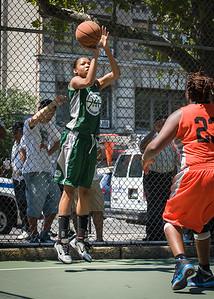 "Charisse Johnson West 4th Street Women's Pro Classic NYC: Exodus NYC Apache (Green) 61 v Deuce Trey (Orange) 47, ""The Cage"", New York, NY, August 4, 2012"