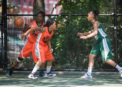 "Shorty Reed, Lawanda Greene, Jael Pena West 4th Street Women's Pro Classic NYC: Exodus NYC Apache (Green) 61 v Deuce Trey (Orange) 47, ""The Cage"", New York, NY, August 4, 2012"