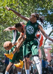 "Renneika Razor, Cherise George West 4th Street Women's Pro Classic NYC: Exodus NYC Apache (Green) 61 v Deuce Trey (Orange) 47, ""The Cage"", New York, NY, August 4, 2012"