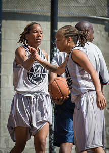 Nicky Souter, Latoya Steele West 4th Street Women's Pro Classic NYC: Lady Soldiers (Blue) 59 v Imperial Crew (Grey) 50, William F. Passannante Ballfield, New York, NY, August 4, 2012.
