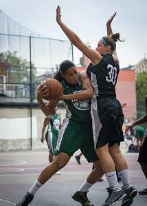 Silvia Rios, Kerri White West 4th Street Women's Pro Classic NYC: Quiet Storm (Green) 49 v Down the Hatch (Black) 38, William F. Passannante Ballfield, New York, NY, August 4, 2012.