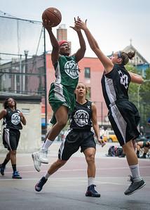 Natasha Philip, Kerri White West 4th Street Women's Pro Classic NYC: Quiet Storm (Green) 49 v Down the Hatch (Black) 38, William F. Passannante Ballfield, New York, NY, August 4, 2012.