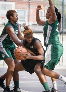 Nijah LaCourt, Candice Abbelard, Silvia Rios West 4th Street Women's Pro Classic NYC: Quiet Storm (Green) 49 v Down the Hatch (Black) 38, William F. Passannante Ballfield, New York, NY, August 4, 2012.
