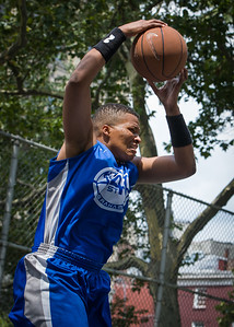 """Dana Wynne West 4th Street Women's Pro Classic NYC: Primetime (Blue) 69 v Big East Ballers (Red) 60, """"The Cage"""", New York, NY, August 5, 2012"""