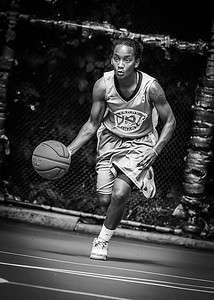 """Renee Taylor West 4th Street Women's Pro Classic NYC: Primetime (Blue) 69 v Big East Ballers (Red) 60, """"The Cage"""", New York, NY, August 5, 2012"""