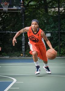 "Shorty Reed West 4th Street Women's Pro Classic NYC: Deuce Trey (Orange) 90 v Cobra Hustlers (Black) 80, ""The Cage"", New York, NY, August 5, 2012"