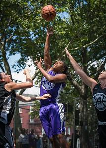 "West 4th Street Women's Pro Classic NYC: Run N Shoot (Purple) 93 v Cobra Hustlers (Black) 61 , ""The Cage"", New York, NY, August 11, 2012"