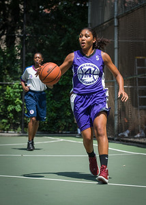 """Ariel Smith West 4th Street Women's Pro Classic NYC: Run N Shoot (Purple) 93 v Cobra Hustlers (Black) 61 , """"The Cage"""", New York, NY, August 11, 2012"""