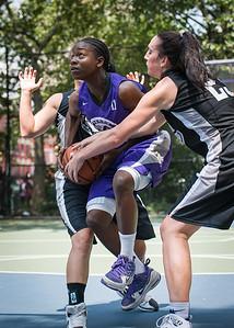 "Ashley Clarke West 4th Street Women's Pro Classic NYC: Run N Shoot (Purple) 93 v Cobra Hustlers (Black) 61 , ""The Cage"", New York, NY, August 11, 2012"
