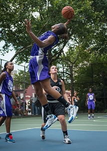 "Toni-Ann Lawrence West 4th Street Women's Pro Classic NYC: Run N Shoot (Purple) 93 v Cobra Hustlers (Black) 61 , ""The Cage"", New York, NY, August 11, 2012"