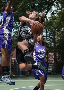 "Amanda Bartlett West 4th Street Women's Pro Classic NYC: Run N Shoot (Purple) 93 v Cobra Hustlers (Black) 61 , ""The Cage"", New York, NY, August 11, 2012"