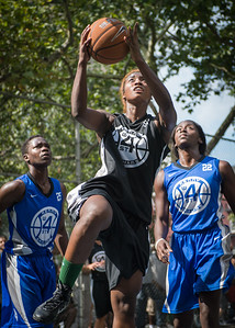 """Nijah LaCourt West 4th Street Women's Pro Classic NYC: Lady Soldiers (Blue) 70 v Down the Hatch (Black) 67, """"The Cage"""", New York, NY, August 11, 2012"""