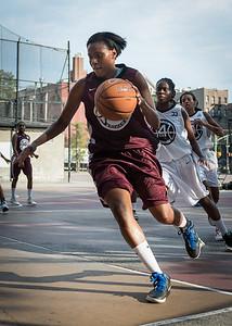 Fabienne Jones West 4th Street Women's Pro Classic NYC: Brooklyn Express (Burgundy) 69 v Lady Falcons (Grey) 61, William F. Passannante Ballfield, New York, NY, August 11, 2012.