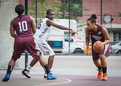 Jessica Fairweather, Aquillin Hayes West 4th Street Women's Pro Classic NYC: Brooklyn Express (Burgundy) 69 v Lady Falcons (Grey) 61, William F. Passannante Ballfield, New York, NY, August 11, 2012.