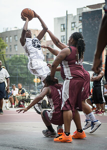 Aquillin Hayes West 4th Street Women's Pro Classic NYC: Brooklyn Express (Burgundy) 69 v Lady Falcons (Grey) 61, William F. Passannante Ballfield, New York, NY, August 11, 2012.
