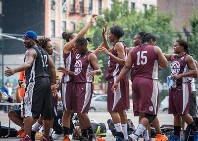 West 4th Street Women's Pro Classic NYC: Brooklyn Express (Burgundy) 69 v Lady Falcons (Grey) 61, William F. Passannante Ballfield, New York, NY, August 11, 2012.