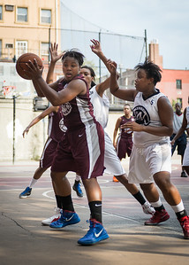 Cigi McCollin, Krista Mitchell West 4th Street Women's Pro Classic NYC: Brooklyn Express (Burgundy) 69 v Lady Falcons (Grey) 61, William F. Passannante Ballfield, New York, NY, August 11, 2012.