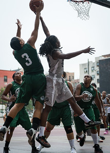 Shenee Clarke, Tierra Cleaves West 4th Street Women's Pro Classic NYC: Imperial Crew (Grey) 46 v Quiet Storm (Green) 43, William F. Passannante Ballfield, New York, NY, August 11, 2012.