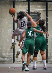 Tierra Cleaves, Yolanda Alford, Taisha Hylor West 4th Street Women's Pro Classic NYC: Imperial Crew (Grey) 46 v Quiet Storm (Green) 43, William F. Passannante Ballfield, New York, NY, August 11, 2012.