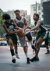 Mallory Williams, Candice Lloyd, Candice Abbelard West 4th Street Women's Pro Classic NYC: Imperial Crew (Grey) 46 v Quiet Storm (Green) 43, William F. Passannante Ballfield, New York, NY, August 11, 2012.