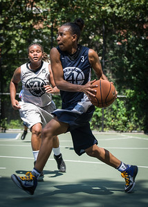 """Nastassia Boucicault West 4th Street Women's Pro Classic NYC: No Limit (Navy) 62 v Imperial Crew (Grey) 51, """"The Cage"""", New York, NY, August 12, 2012"""