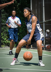 """Angel Porter West 4th Street Women's Pro Classic NYC: No Limit (Navy) 62 v Imperial Crew (Grey) 51, """"The Cage"""", New York, NY, August 12, 2012"""
