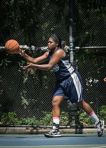 """Rashawnah French West 4th Street Women's Pro Classic NYC: No Limit (Navy) 62 v Imperial Crew (Grey) 51, """"The Cage"""", New York, NY, August 12, 2012"""